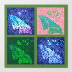 Flowers & Butterflies 2x2 Canvas Print