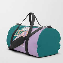 Good Energy Club- turquoise, orange, and lavender Duffle Bag