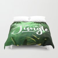 jungle Duvet Covers featuring Jungle by Insait