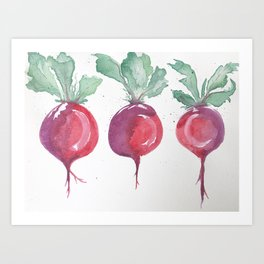 Watercolor beets Art Print