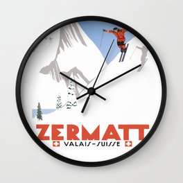 Zermatt, Valais, Switzerland Wall Clock