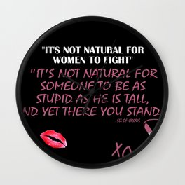 Girl Fighter Wall Clock