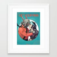 yaoi Framed Art Prints featuring Comic Cover by kami dog