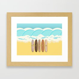 Aloha Surf Wave Beach Framed Art Print