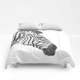 Black and White Zebra Profile Comforters