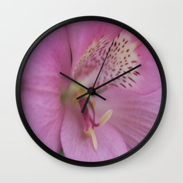 Peruvian Lily Wall Clock