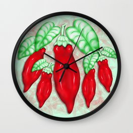 Red Hot Chilli Pepper Decorative Food Art Wall Clock