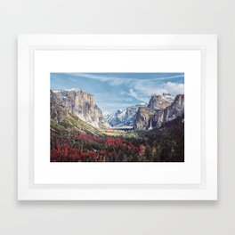 Tunnel View Yosemite Valley Framed Art Print