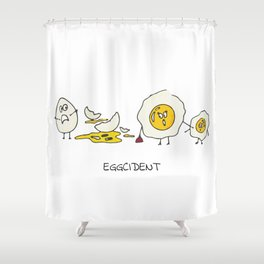 Eggcident Shower Curtain