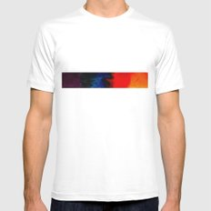 multi-colors White MEDIUM Mens Fitted Tee