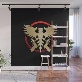 Phoenix with pistols emblem Wall Mural