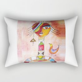 Abstract Woman Rectangular Pillow
