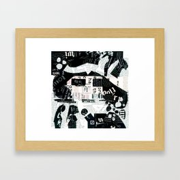 Paper People Framed Art Print