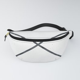 Black Arrows on White Paper Fanny Pack