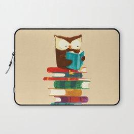 Owl Reading Rainbow Laptop Sleeve
