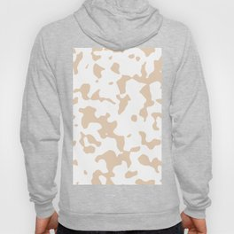 Large Spots - White and Pastel Brown Hoody