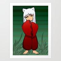 inuyasha Art Prints featuring Inuyasha by Samrri
