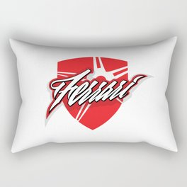 Red star shield Rectangular Pillow