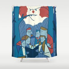 We all float down here Shower Curtain