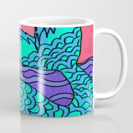 Abstract Digital Mermaid Painting Coffee Mug