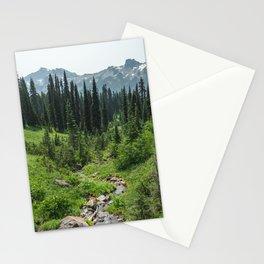 Mount Rainier Adventure IV - Pacific Northwest Mountain Forest Wanderlust Stationery Cards