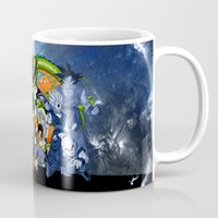 dbz Mugs featuring DBZ - Cell Saga by Mr. Stonebanks