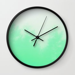 Out of focus - cool green Wall Clock