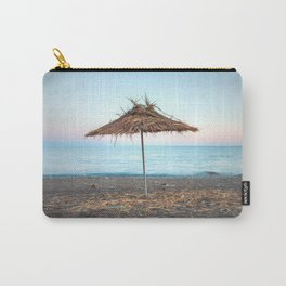 Straw umbrellas on the beach Carry-All Pouch