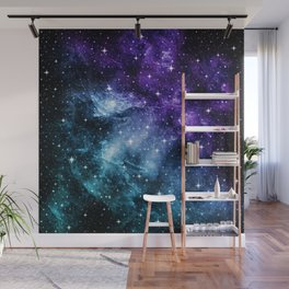 Purple Teal Galaxy Nebula Dream #1 #decor #art #society6 Wall Mural