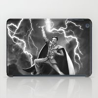 tesla iPad Cases featuring Tesla: God of Thunder by The Cracked Dispensary