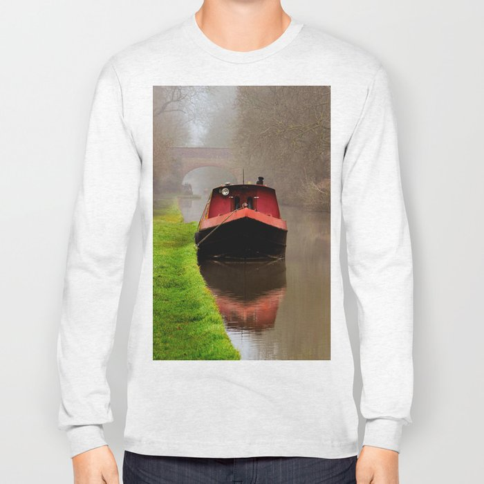 Barge on the Canal Long Sleeve T-shirt