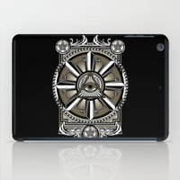 all seeing eye iPad Cases featuring All Seeing Eye by Pancho the Macho