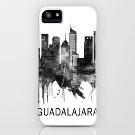 Guadalajara Mexico Skyline BW iPhone Case