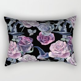 Dark flowers Rectangular Pillow