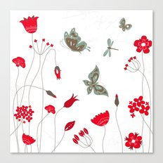 Tatemae Japanese White Canvas Print
