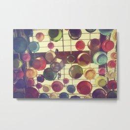 Colours rain Metal Print