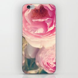 Shabby Chic Flowers, Ranunculus Roses, Spring, Romantic Floral Decor iPhone Skin