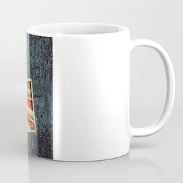 Grunge sticker of United States flag Coffee Mug