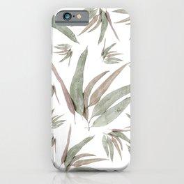 Eucalyptus Leaves Pattern iPhone Case