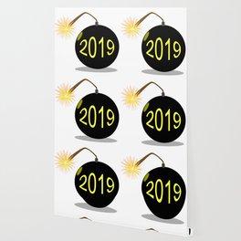 Cartoon 2019 New Year Bomb Wallpaper