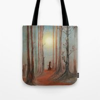 wizard Tote Bags featuring Track 7: The wizard by Viviana Gonzalez