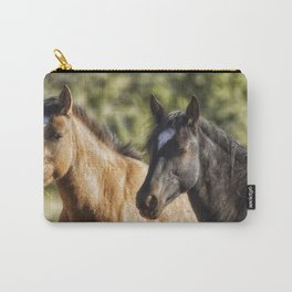 A Filly and a Colt from Garcia's band - Pryor Mustangs Carry-All Pouch