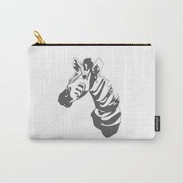 Zebra Blind Contour Carry-All Pouch