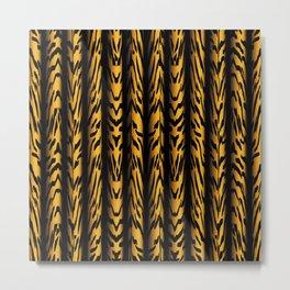 Brown Tiger Stripe Metal Print