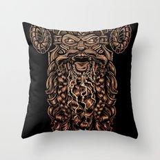 Viking Rabies Throw Pillow