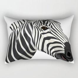 a zebra head portrait Rectangular Pillow