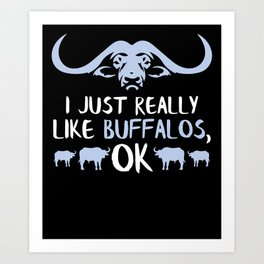 Buffalo Gifts Buffalo And Bison Gifts American Bison Art Print