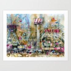 Wonder Wheel - Coney Island  - 2010 Art Print