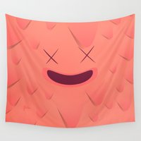 furry Wall Tapestries featuring Furry Square by Flester