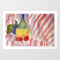 Fruit and Wine Art Print